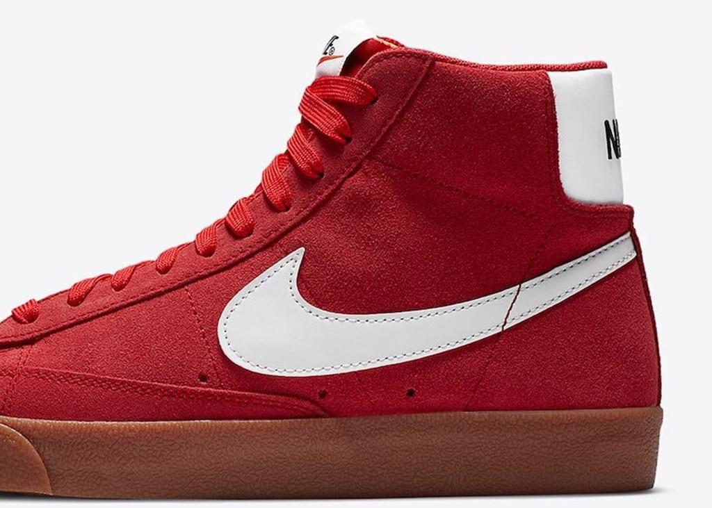 Binnenkort verkrijgbaar: de nieuwe Nike Blazer Mid Suede 'Red 'Gum'