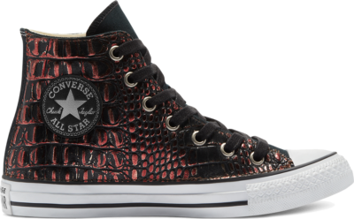 Converse Metallic Crocodile Chuck Taylor All Star High Top Maroon Black Croco 169929C