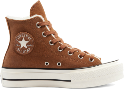 Converse Cozy Club Platform Chuck Taylor All Star High Top Clove Brown/Egret/Black 570034C