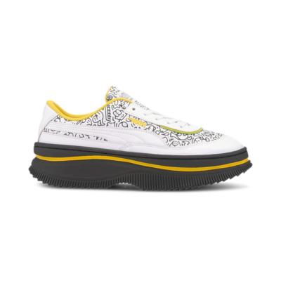 Puma x MR DOODLE Deva sportschoenen voor Dames Wit / Zwart / Geel 374221_01