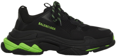 Balenciaga Triple S Black Fluo Green 536737W3BK11035
