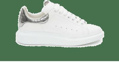 Alexander McQueen Oversized White Silver Croco 625162WHYBQ9071