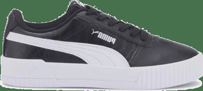 Puma puma carina snake sneakers zwart/wit kinderen zwart/wit