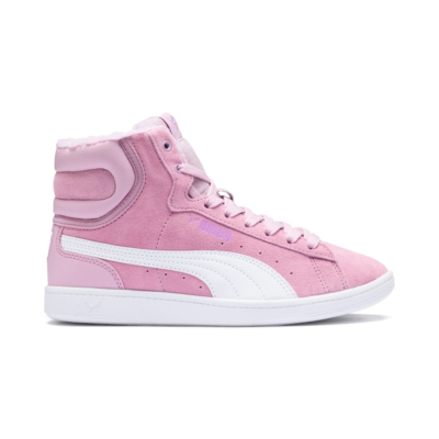 PUMA Vikky Mid Fur Girls' High Tops Sneakers Preschool, Winsome Orchid/White Winsome Orchid,White 366854_02