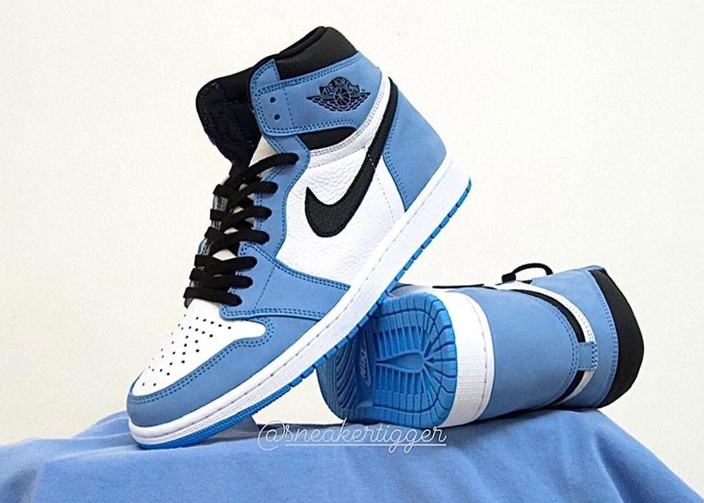 Eindelijk betere beelden uitgelekt van de Air Jordan 1 University Blue