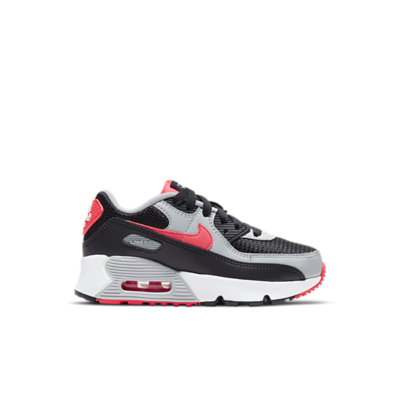 Nike Air Max 90 Black Radiant Red Wolf Grey (PS) CD6867-009