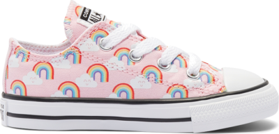Converse Rainbows Chuck Taylor All Star Low Top voor peuters Cherry Blossom/Multi/White 768355C