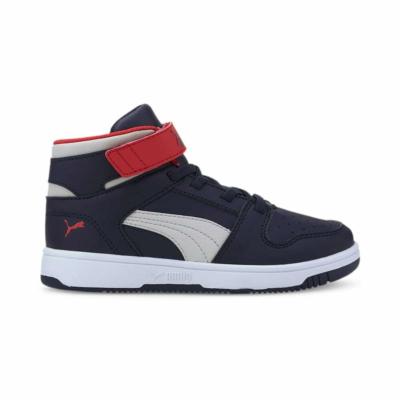 Puma Rebound Lay-Up SL V sneakers kinderen Blauw / Grijs / Rood 370488_11