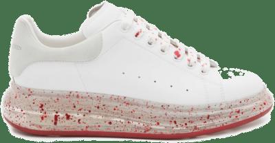 Alexander McQueen Oversized White Splatter Red 625174WHYBB9175