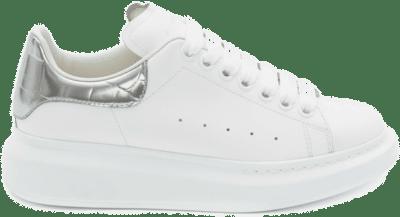Alexander McQueen Oversized White Silver Croco (W) 553770WHYBQ9071