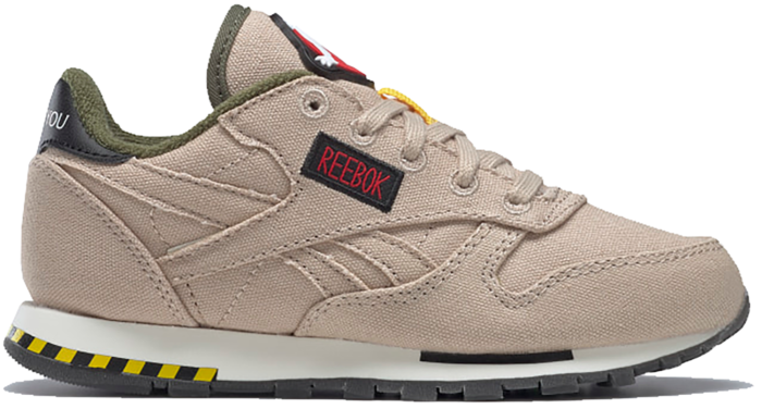 Reebok Ghostbusters Classic Leather PS Schoenen Modern Beige / Black / Blaze Yellow H68137