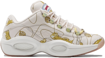 Reebok BBC Question Low Schoenen Polar Pink / White / Yellow Filament FZ4341