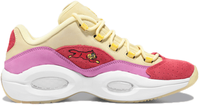 Reebok Question Low BBC Ice Cream Running Dog Yellow Red FZ4346