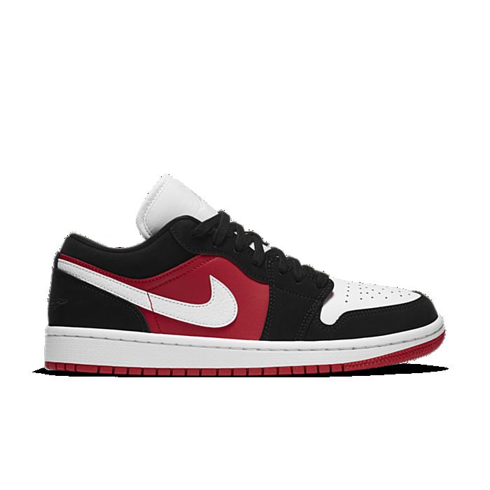 Jordan 1 Low Black White Gym Red (W) DC0774-016