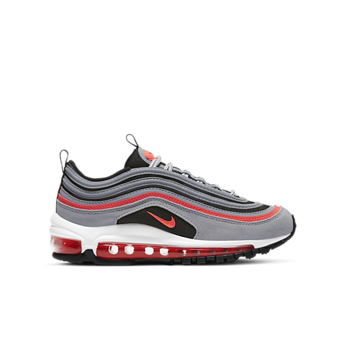 Nike Air Max 97 Wolf Grey Radiant Red (GS) 921522-025