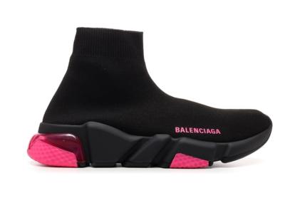 Balenciaga Speed Trainer Black Pink Clear Sole (W) 607543W05GJ1051