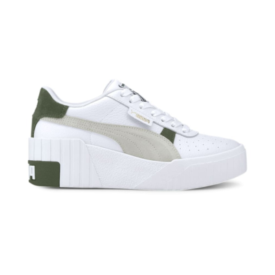 Puma Cali Wedge Mix sportschoenen voor Dames Wit / Groen 373906_01