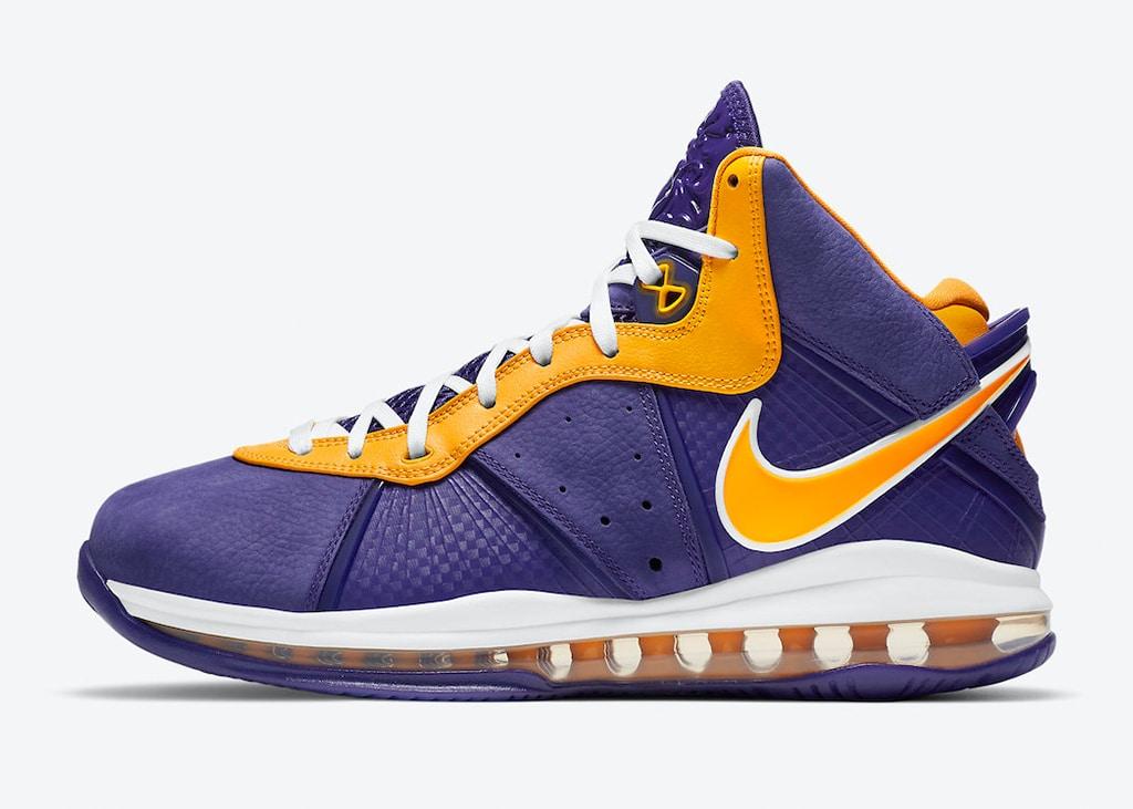 Na geruchten nu ook officiële foto's van de Nike LeBron 8 'Lakers' colorway