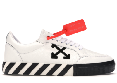 OFF-WHITE Vulc Low White Leather FW19 OMIA085F19D680010110