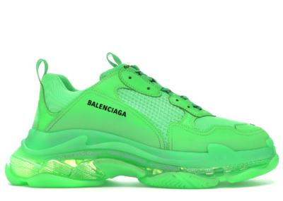 Balenciaga Triple S Neon Green Clear Sole 541624 W09OL 3801