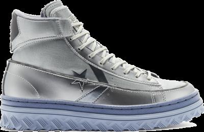 Converse Metallic Vis Pro Leather X2 High Top Silver/Grey/Black 169529C