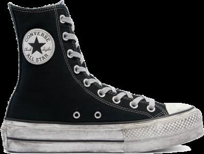 Converse Smoked Canvas Extra High Platform Chuck Taylor All Star Black 170594C