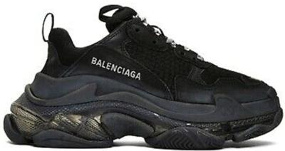 Balenciaga Triple S Black Clear Sole (W) 544351 W09O 11000