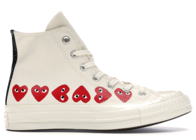 Converse Chuck Taylor All-Star 70s Hi Comme des Garcons Play Multi-Heart White 162972C