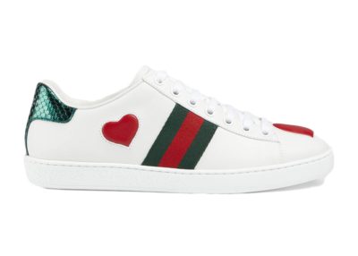 Gucci Ace Embroidered Heart (W) 435638 02JS0 9074