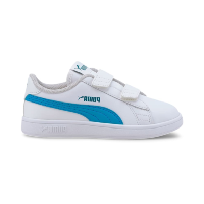 Puma Smash v2 Leather sportscchoenen Wit / Blauw 365173_21