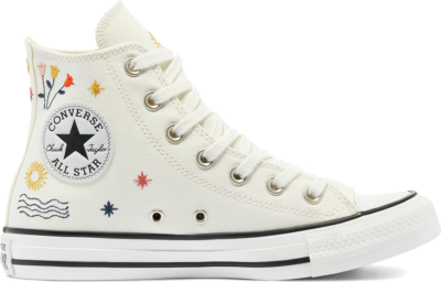 Converse It's Okay To Wander Chuck Taylor All Star High Top Egret/Vintage White/Black 571079C