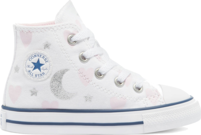 Converse My Wish Chuck Taylor All Star High Top White/Pink/Silver 771093C