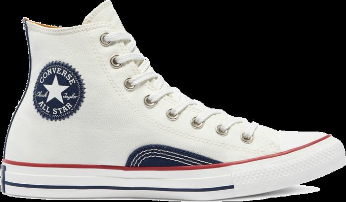 Indigo Boro Chuck Taylor All Star High Top egret/vintage white 171067C