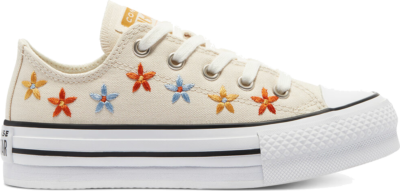 Converse Spring Flowers EVA Platform Chuck Taylor All Star Low Top Natural Ivory/White/Black 671105C
