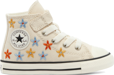 Converse Spring Flowers Easy-On EVA Platform Chuck Taylor All Star High Top Natural Ivory/Multi/Black 771137C