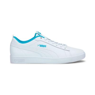 Puma Smash v2 leren sportschoenen voor Dames Blauw / Wit 365208_27