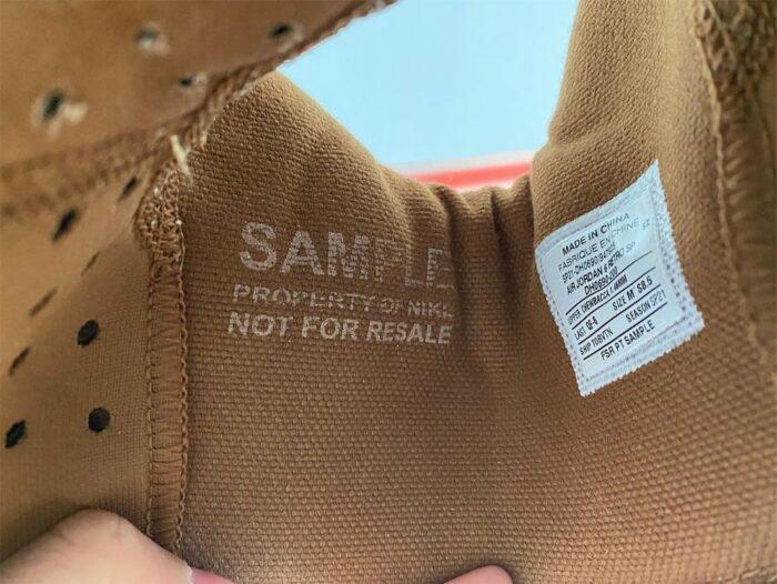 sample shoe Air Jordan 6
