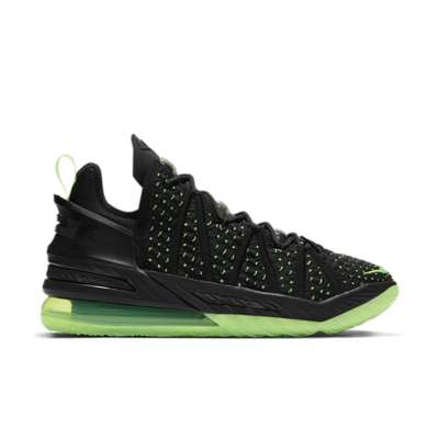 Nike LeBron 18 Black/Electric Green-Black Black CQ9283-005