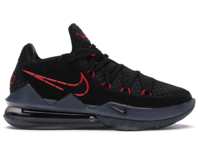 Nike LeBron 17 Low Black Red Dark Grey CD5007-001/CD5006-001