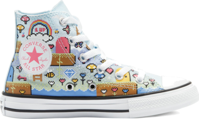 Converse Gamer Chuck Taylor All Star High Top Chambray Blue/Bold Pink/White 670170C