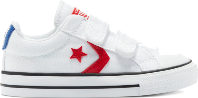 Converse Varsity Canvas Easy-On Star Player Low Top White/University Red/Blue 770228C