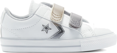 Converse Metallic Leather Easy-On Star Player Low Top White/Gravel/Metallic 770424C