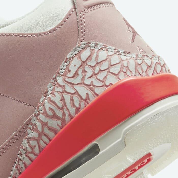 pink rust Air Jordan 3