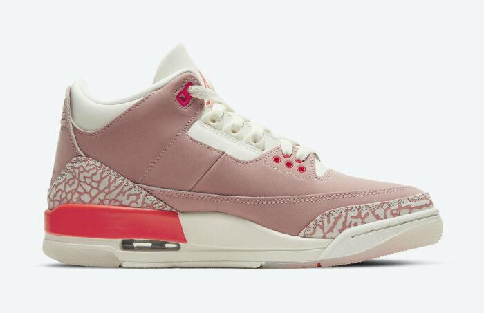 pink rust air nike 3