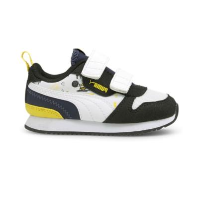 Puma x PEANUTS R78 V babyschoenen Blauw / Zwart / Wit 375744_01