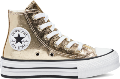 Converse Digital Powder EVA Platform Chuck Taylor All Star High Top Gold 670546C