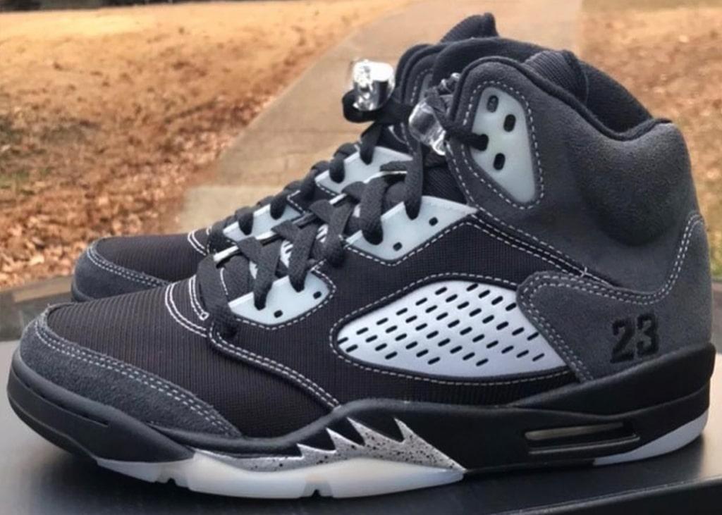 Beelden opgedoken van de nieuwe 'reconstructed' Air Jordan 5 'Anthracite'