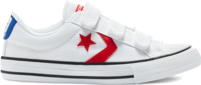 Converse Varsity Canvas Easy-On Star Player Low Top White/University Red/Blue 670227C