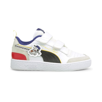 Puma x PEANUTS Ralph Sampson V sneakers kinderen Wit / Zwart 375794_01