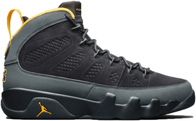 Jordan 9 Retro Dark Charcoal University Gold CT8019-070